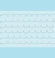 electrocardiogram test results curves on blue vector image