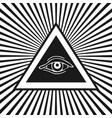 eye providence vector image
