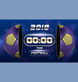 football banner with 3d golden blue ball soccer vector image vector image