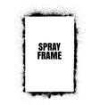 Frame Spray texture vector image vector image
