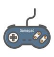 gamepad colorful line icon console joystick vector image