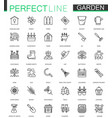 gardening and flower thin lines web icons set vector image vector image