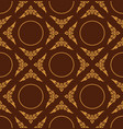 golden color of thai patter floral seamless on vector image vector image
