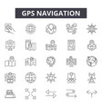 gps navigation line icons signs set vector image vector image