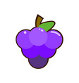 grapes icon of simple color vector image vector image
