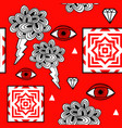 hand drawn seamless pattern with artistic design vector image