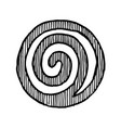 hand drawn spiral vector image