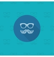 Hipster Mustache Leaves vector image