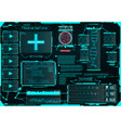 hud for the application medical interface ui vector image vector image