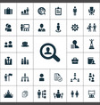human resources icons universal set for web and ui vector image