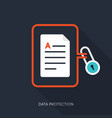 internet security and data protection concept vector image
