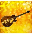 Jazz guitar against a bright background with flash vector image