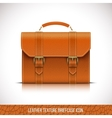 leather briefcase icon vector image vector image