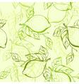 Lemon seamless pattern vector image