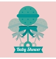 Maraca of baby shower card design vector image vector image