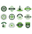 marijuana label smoke weeds cannabis joint and vector image