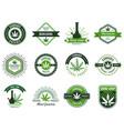 marijuana label smoke weeds cannabis joint vector image