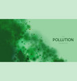 marine pollution concept polluted water vector image