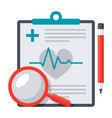 medical diagnostic icon vector image vector image