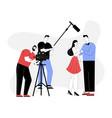 melodramatic film making romantic scene vector image