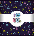 memphis 80s background vector image vector image