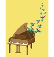 music poster in flat retro style vector image