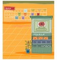 Music Shop Background vector image vector image