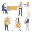musicians with musical instruments jazz or vector image vector image
