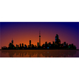 North American Metropolis Skyline Urban City View vector image vector image