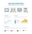 Online Shopping infographic vector image vector image