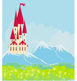 Panorama with medieval castle vector image