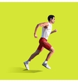 polygonal running man geometric vector image