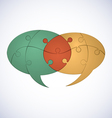 Puzzle dialogue balloons vector | Price: 1 Credit (USD $1)