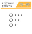 rating editable stroke line icon vector image vector image