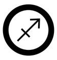 sagittarius symbol zodiac icon black color in vector image vector image