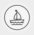sailboat universal icon editable thin vector image vector image
