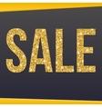 Sale gold glitter hand lettering on black vector image vector image