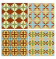 sampler with nostalgic retro patterns tile vector image