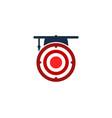 school target logo icon design vector image