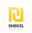 shekel icon over white vector image vector image
