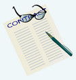 signing a paper contract vector image vector image