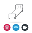 Single bed icon Bedroom furniture sign