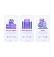 smart city thin line icons set intelligent vector image