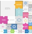 Square infographic vector image