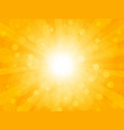 summer brightly background with rays vector image vector image