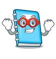super hero education character cartoon style vector image vector image