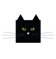 sweet and cute black cat vector image vector image
