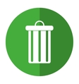 trash can garbage environment recycle-shadow vector image vector image