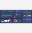 ui future collection colorful dashboard vector image