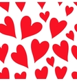 Valentines Day pattern with red hearts vector image
